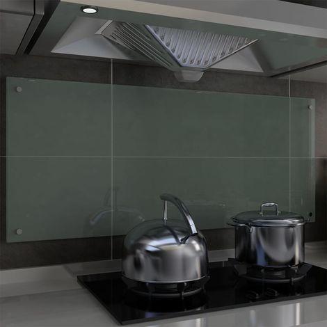 Hommoo Protector salpicaduras cocina vidrio templado blanco 120x50 cm