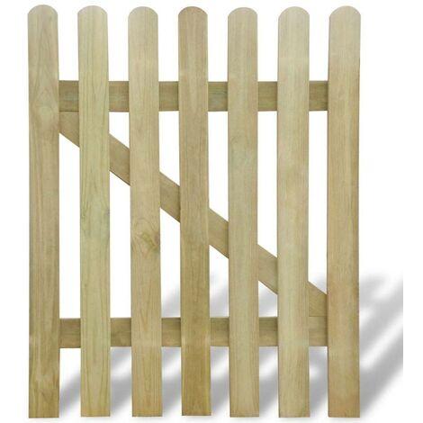 Hommoo Puerta de valla de jardín de madera 100x120 cm