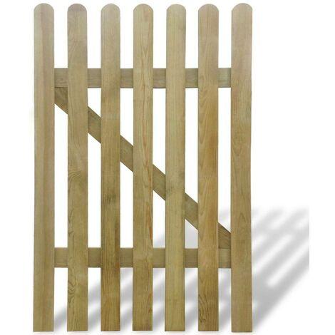 Hommoo Puerta de valla de jardín de madera 100x150 cm