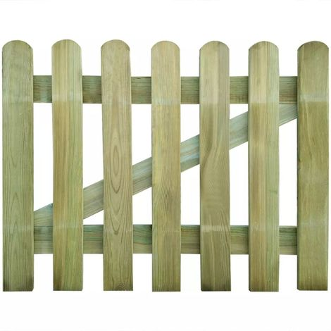 Hommoo Puerta de valla de jardín de madera 100x80 cm