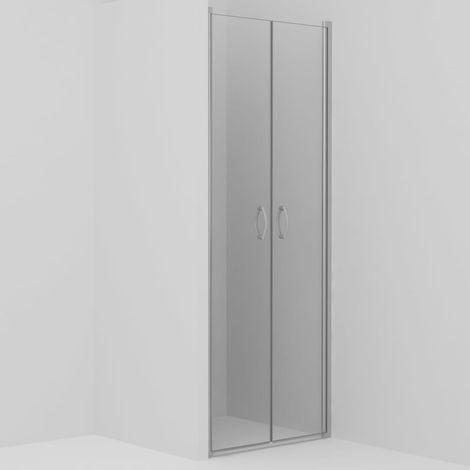 Hommoo Puertas de ducha claras ESG 70x185 cm