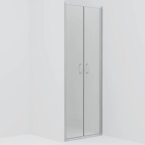 Hommoo Puertas de ducha ESG esmerilado 70x185 cm