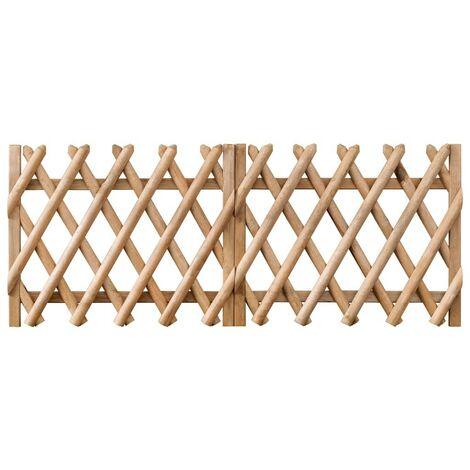 Hommoo Puertas de valla 2 uds madera de pino impregnada 300x80 cm
