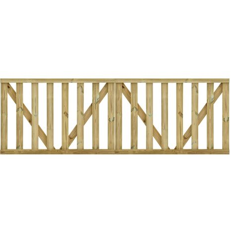 Hommoo Puertas listones jardín 2 uds madera pino impregnada 150x100 cm