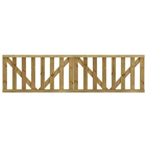 Hommoo Puertas listones jardín 2 uds madera pino impregnada 150x80 cm