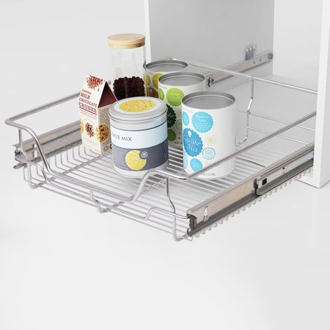 Hommoo Pull-Out Wire Baskets 2 pcs Silver 500 mm VD30393