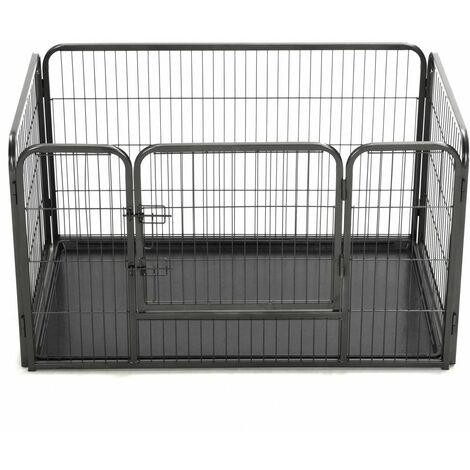 Hommoo Puppy Playpen Steel 125x80x70 cm QAH07133