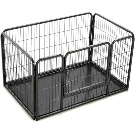 Hommoo Puppy Playpen Steel 125x80x70 cm VD07133