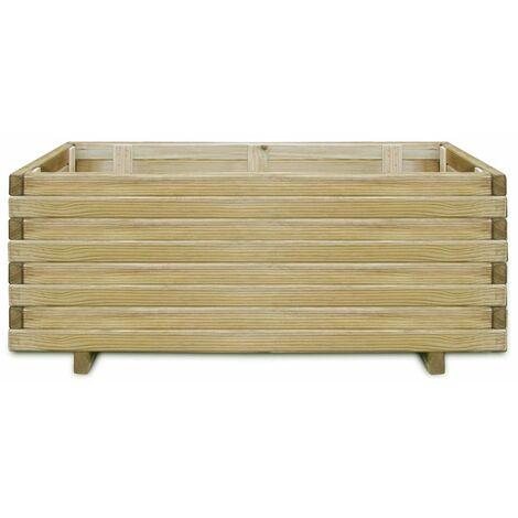 Hommoo Raised Bed 100x50x40 cm Wood Rectangular QAH26626