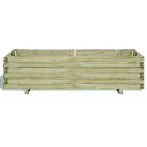 Hommoo Raised Bed 120x40x30 cm Wood Rectangular QAH26627