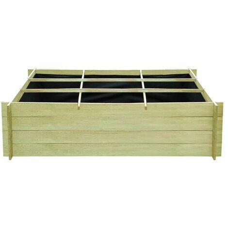 Hommoo Raised Bed 150x100x40 cm Impregnated Wood QAH26755