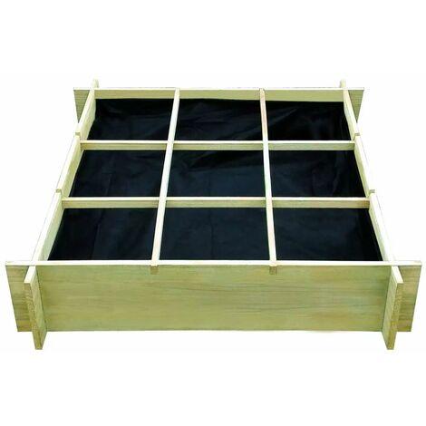 Hommoo Raised Bed 90x90x20 cm Impregnated Wood QAH26754