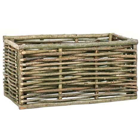 Hommoo Raised Garden Planter 80x40x40 cm Hazel Wood VD29519