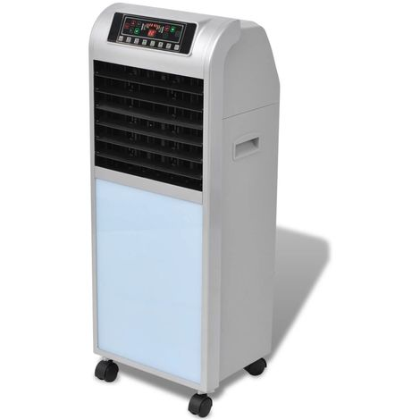 Hommoo Refrigerador de aire 120 W 8 L 385 m3/h 37,5x35x94,5 cm