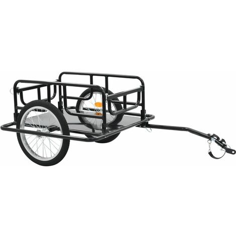 Hommoo Remorque de bicyclette 130x73x48,5 cm Acier Noir HDV32730