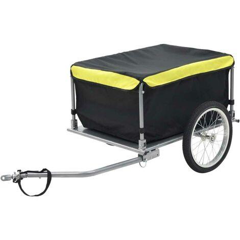 Hommoo Remorque de bicyclette Noir et jaune 65 kg HDV32660