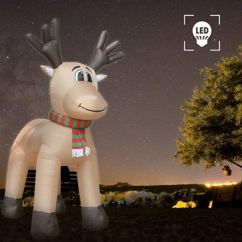 Hommoo Reno de Navidad inflable con LED IP44 500 cm XXL HAXD24923