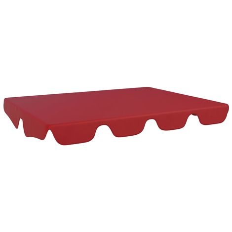 Hommoo Replacement Canopy for Garden Swing Bordeaux Red 192x147 cm