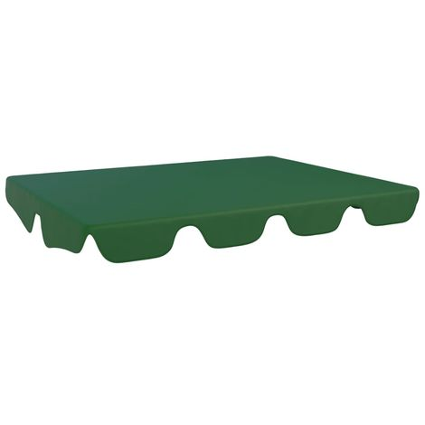 Hommoo Replacement Canopy for Garden Swing Green 192x147 cm VD45906