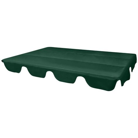 Hommoo Replacement Canopy for Garden Swing Green 226x186 cm