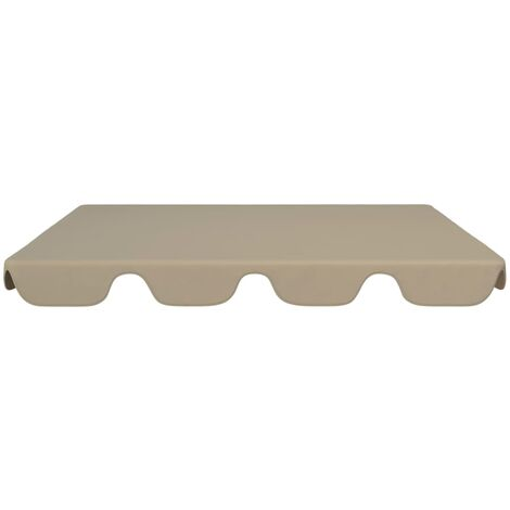 Hommoo Replacement Canopy for Garden Swing Taupe 192x147 cm QAH45911