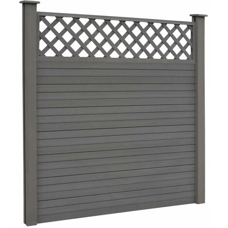Hommoo Replacement Fence Boards WPC 7 pcs 170 cm Grey QAH29208