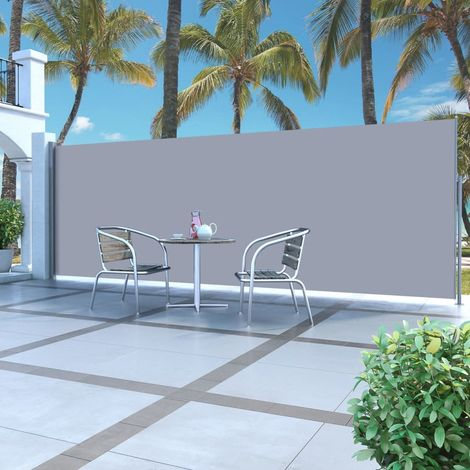 Hommoo Retractable Side Awning 160 x 500 cm Cream