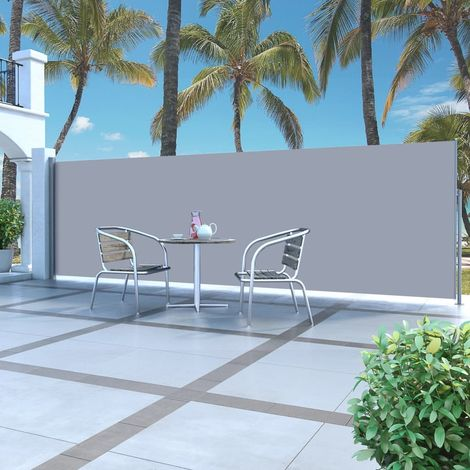 Hommoo Retractable Side Awning 160 x 500 cm Grey