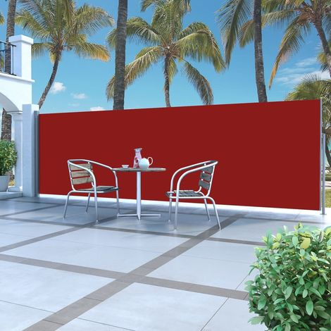Hommoo Retractable Side Awning 160 x 500 cm Red