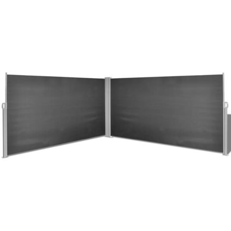 Hommoo Retractable Side Awning 160x600 cm Black