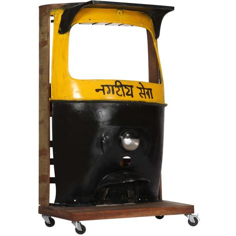 Hommoo Rickshaw Wine Cabinet 100x60x172 cm Solid Reclaimed Wood