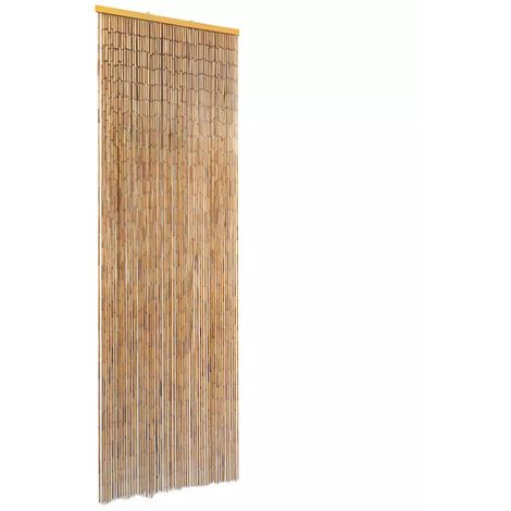 Hommoo Rideau de porte contre insectes Bambou 56 x 185 cm