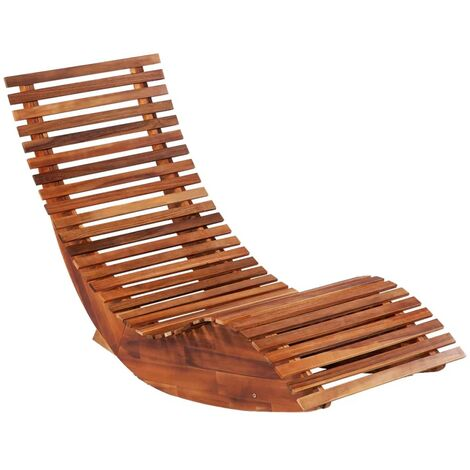 Hommoo Rocking Sun Loungers 2 pcs Acacia Wood QAH19828