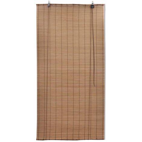 Hommoo Roller Blind Bamboo 80x220 cm Brown QAH11761