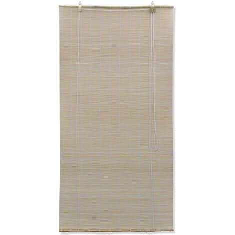Hommoo Roller Blind Bamboo 80x220 cm Natural QAH11765