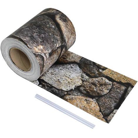 Hommoo Rollo de malla de jardín 70x0,19 m piedra