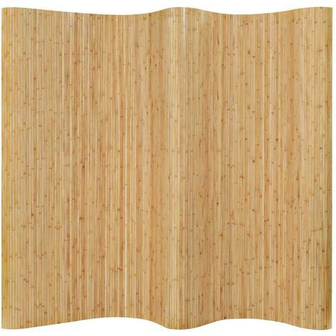 Hommoo Room Divider Bamboo 250x195 cm Natural VD13111