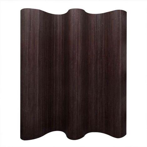 Hommoo Room Divider Bamboo Dark Brown 250x165 cm VD08902