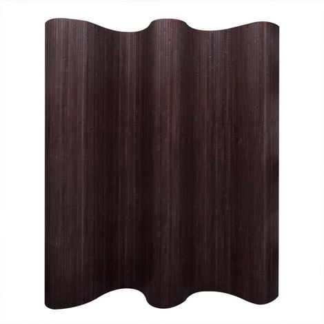 Hommoo Room Divider Bamboo Dark Brown 250x195 cm VD08902