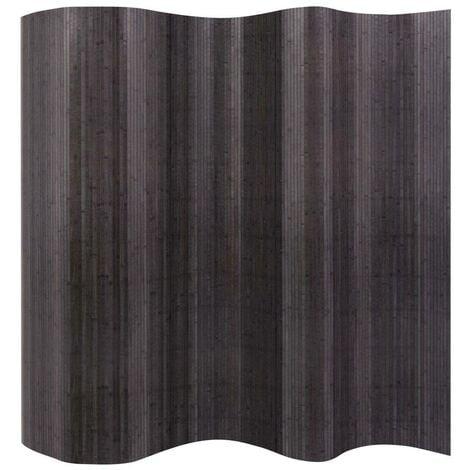 Hommoo Room Divider Bamboo Grey 250x165 cm VD10696