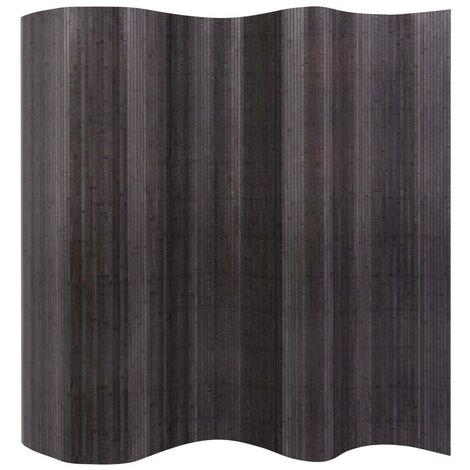 Hommoo Room Divider Bamboo Grey 250x195 cm VD10696