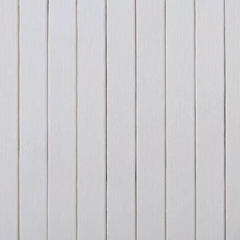 Hommoo Room Divider Bamboo White 250x165 cm QAH08903