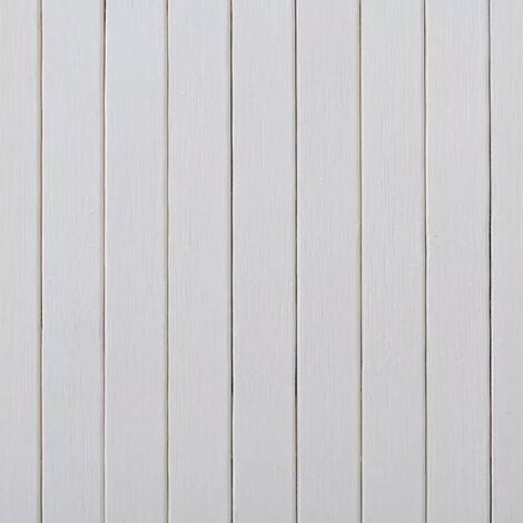 Hommoo Room Divider Bamboo White 250x195 cm QAH08903