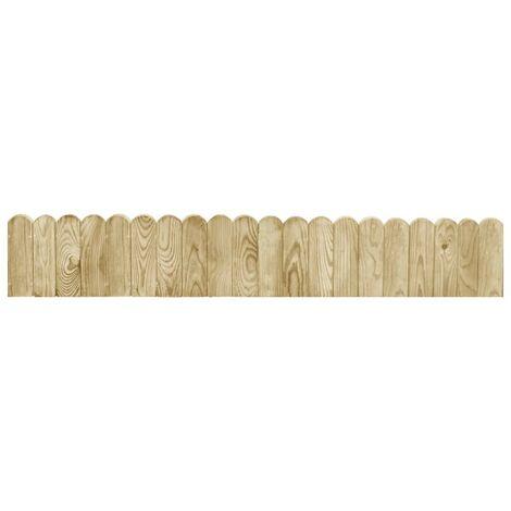 Hommoo Rouleau de bordure Vert 120 cm Bois de pin imprégné HDV46885