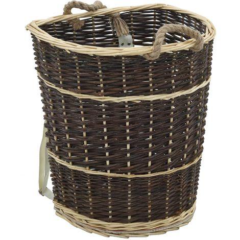 Hommoo Sac à dos bois de chauffage sangles de transport 44,5x37x50 cm