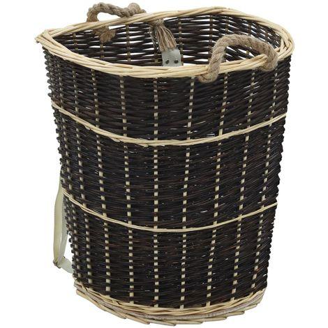 Hommoo Sac à dos bois de chauffage sangles de transport 57x51x69 cm