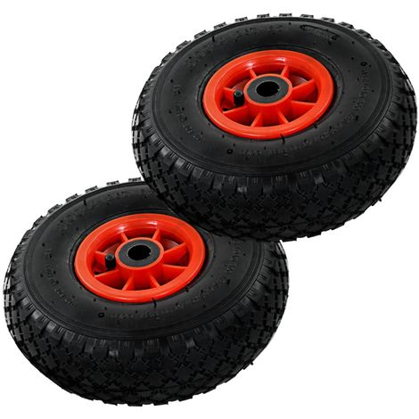 Hommoo Sack Truck Wheels 2 pcs Rubber 3.00-4 (260x85) VD04982