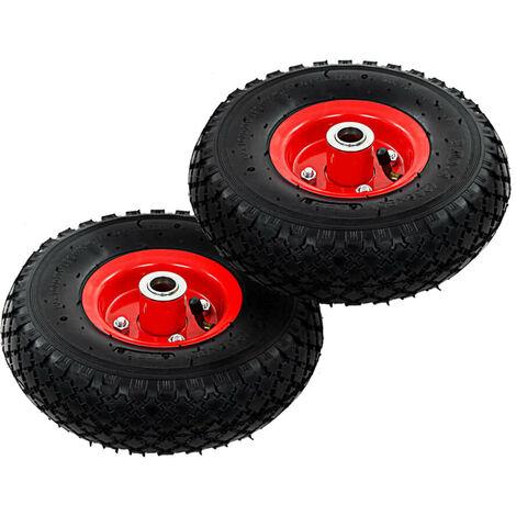 Hommoo Sack Truck Wheels 2 pcs Rubber 3.00-4 (260x85) VD04986
