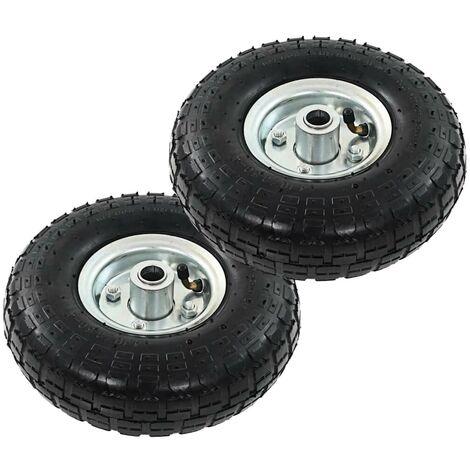 Hommoo Sack Truck Wheels 2 pcs Rubber 4.10/3.50-4 (260x83) VD04988