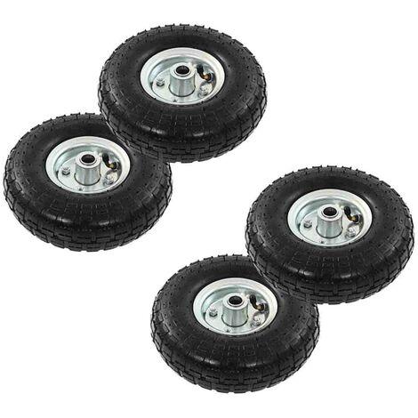 Hommoo Sack Truck Wheels 4 pcs Rubber 4.10/3.50-4 (260x83) VD04989